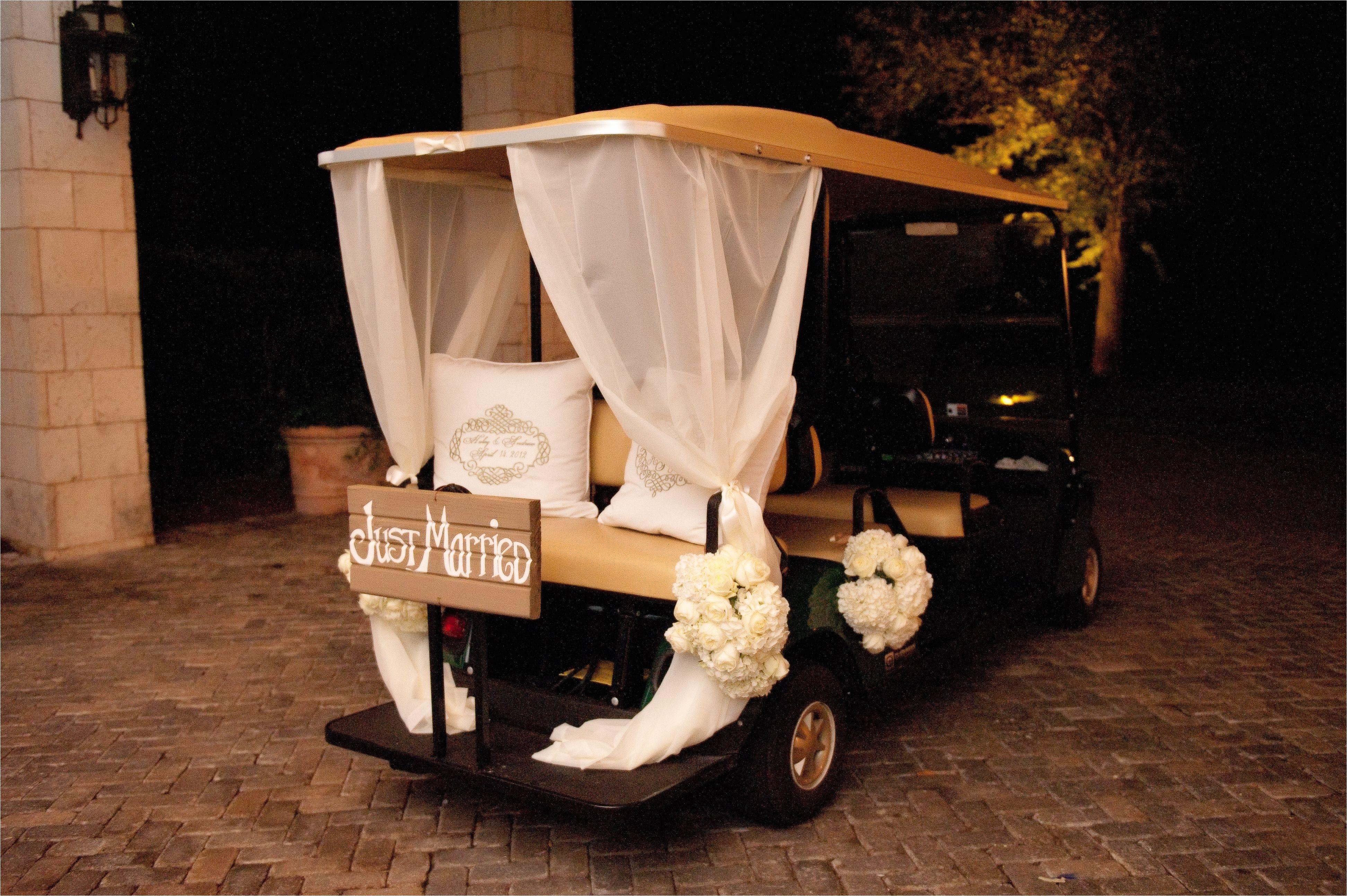 wedding golf cart depature www seaisland com seaisland events