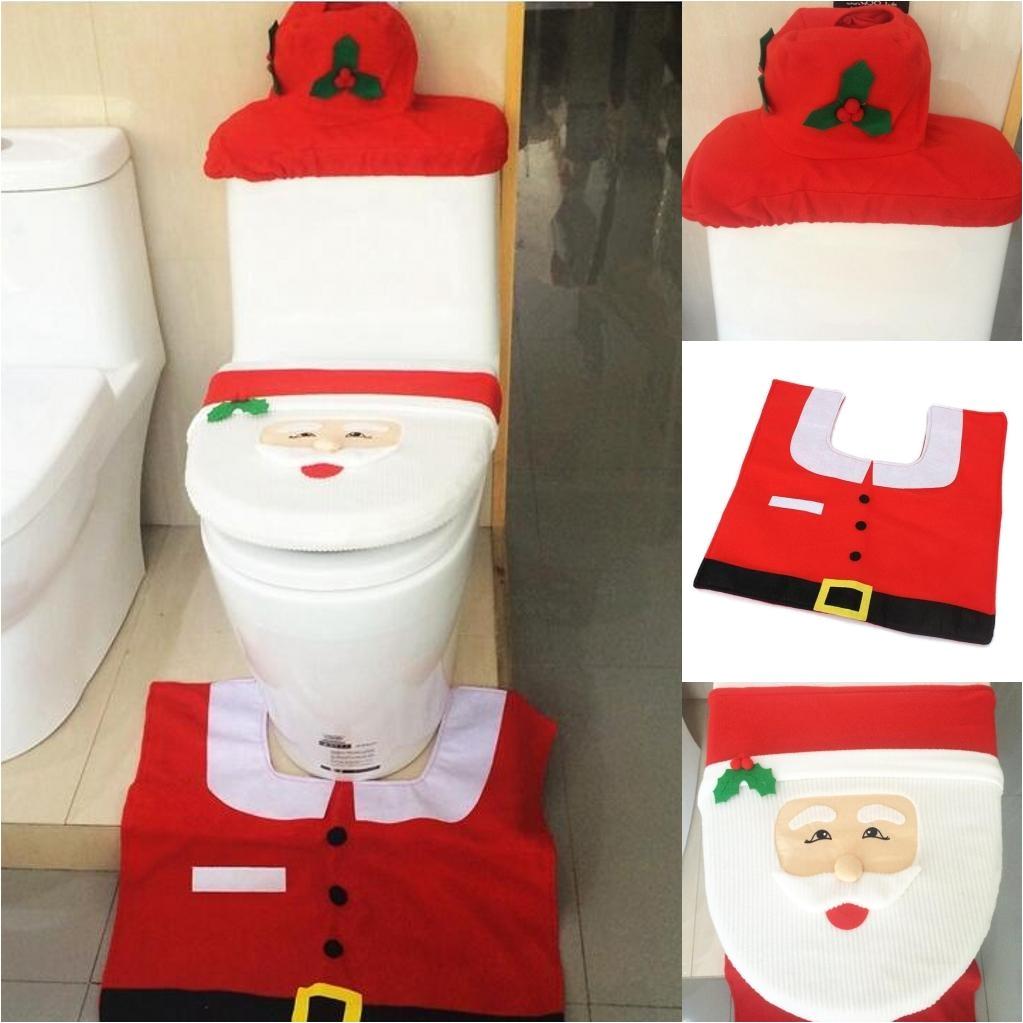hot sale house toilet covers store shop christmas atmosphere decoration toilet covers christmas santa toilet decorations item shopping christmas decorations