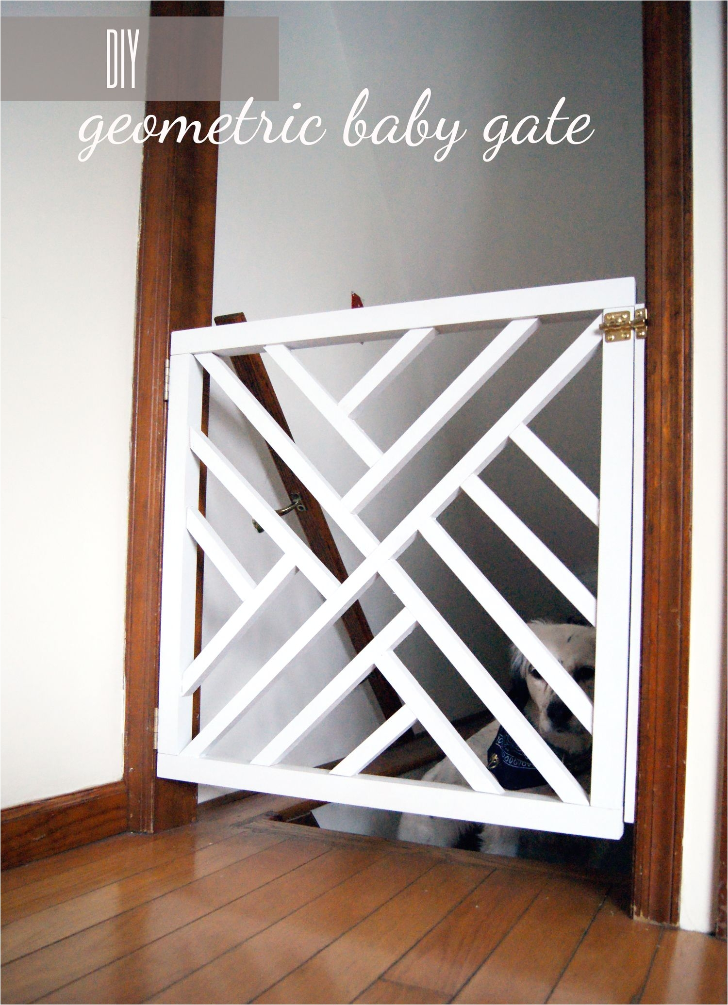Decorative Baby Gates For Stairs Diy Geometric Baby Gate
