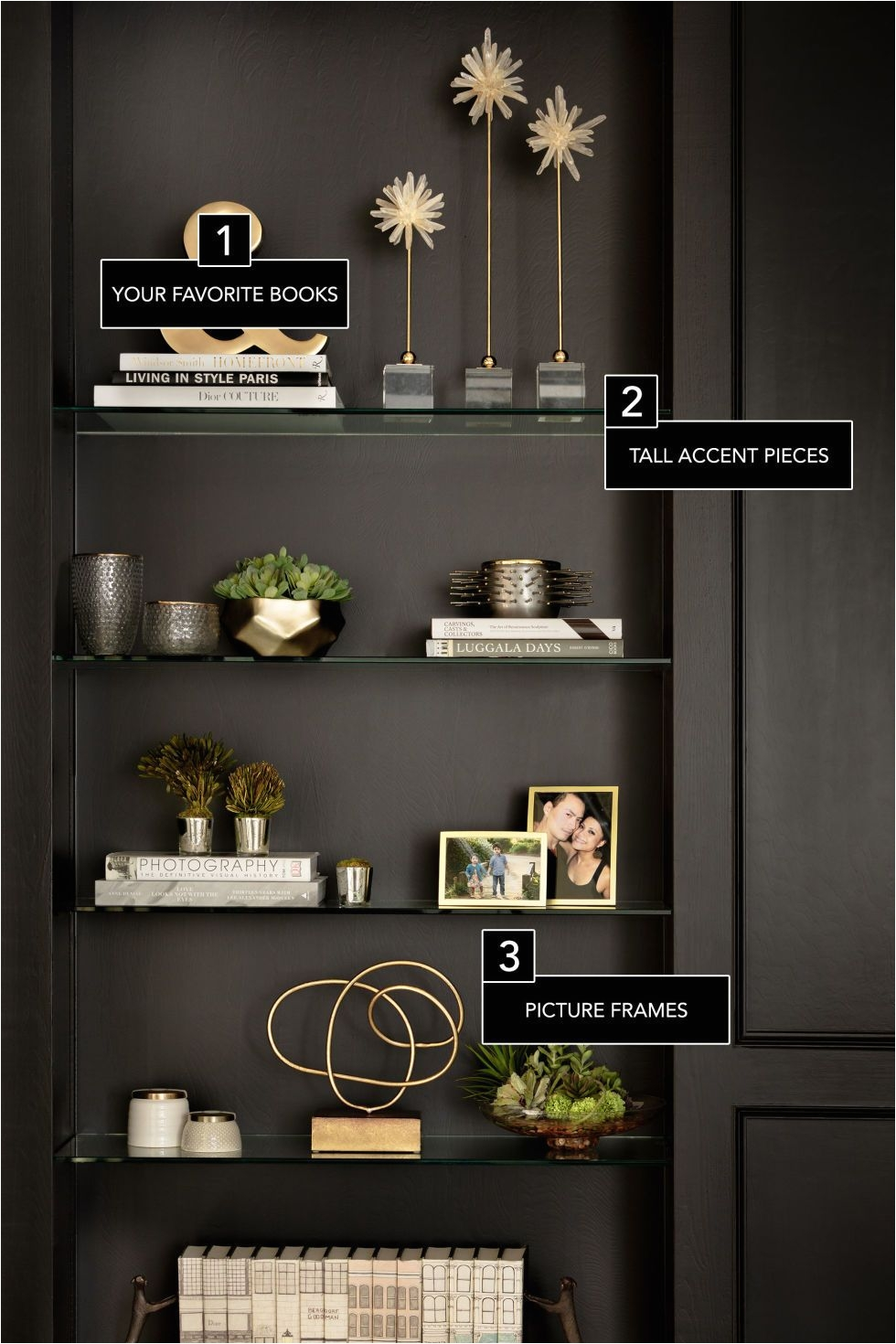 6 secrets to a perfectly styled bookcase decorating