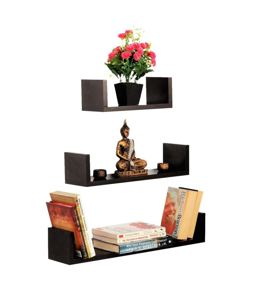 bluewud caesar wall book floating shelf wall shelf book shelf storage shelf
