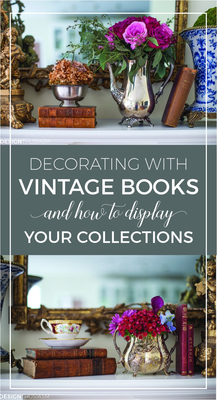 vintage books display ideas and decor inspiration from shabby chic vignettes to creative bookshelves styling
