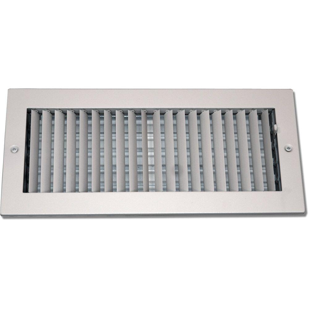 Decorative Ceiling Heat Registers Speedi Grille 6 In X 14 In Steel Ceiling or Wall Register White