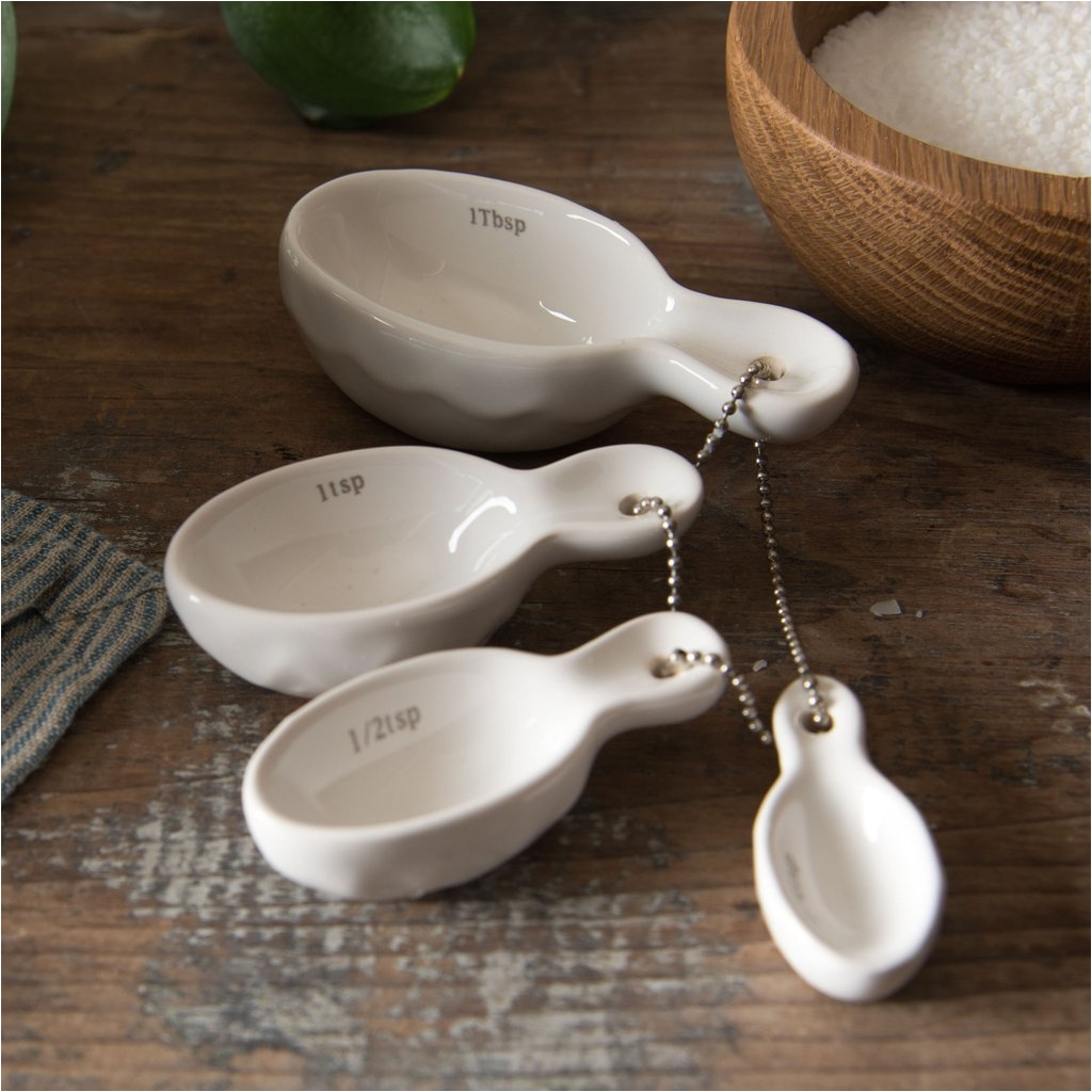 Decorative Ceramic Measuring Cups and Spoons Ceramic Measuring Spoons Magnolia Chip Joanna Gaines