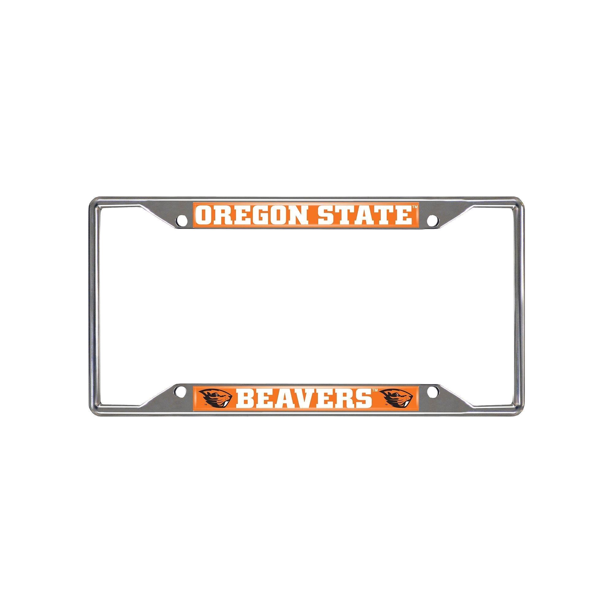 Decorative Chrome License Plate Frames Kohl S oregon State Beavers License Plate Frame License Plate