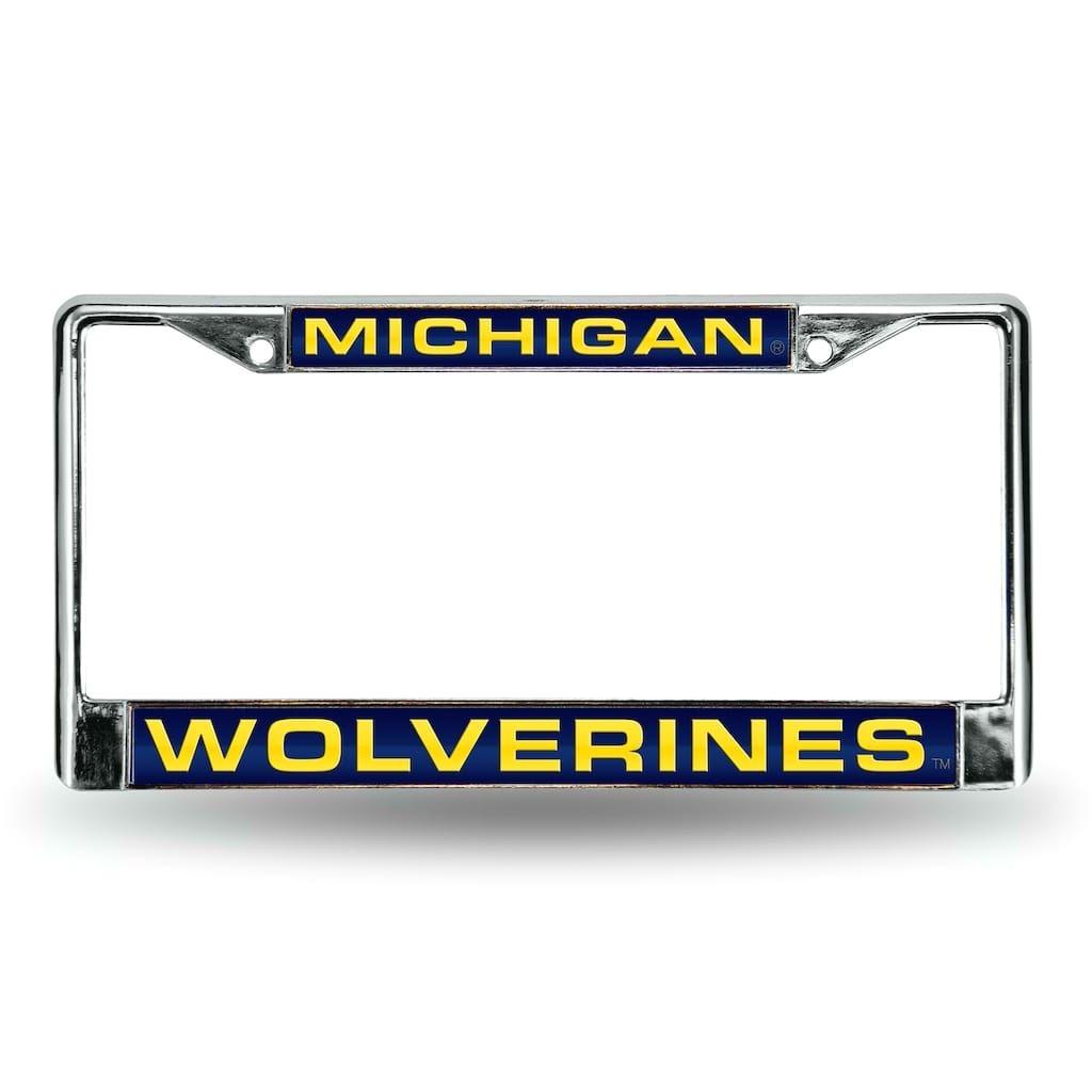 michigan wolverines license plate frame blue