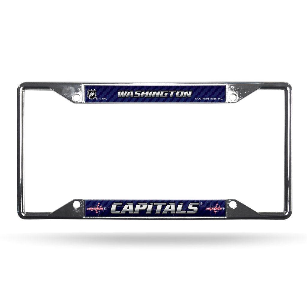 washington capitals license plate frame chrome ez view
