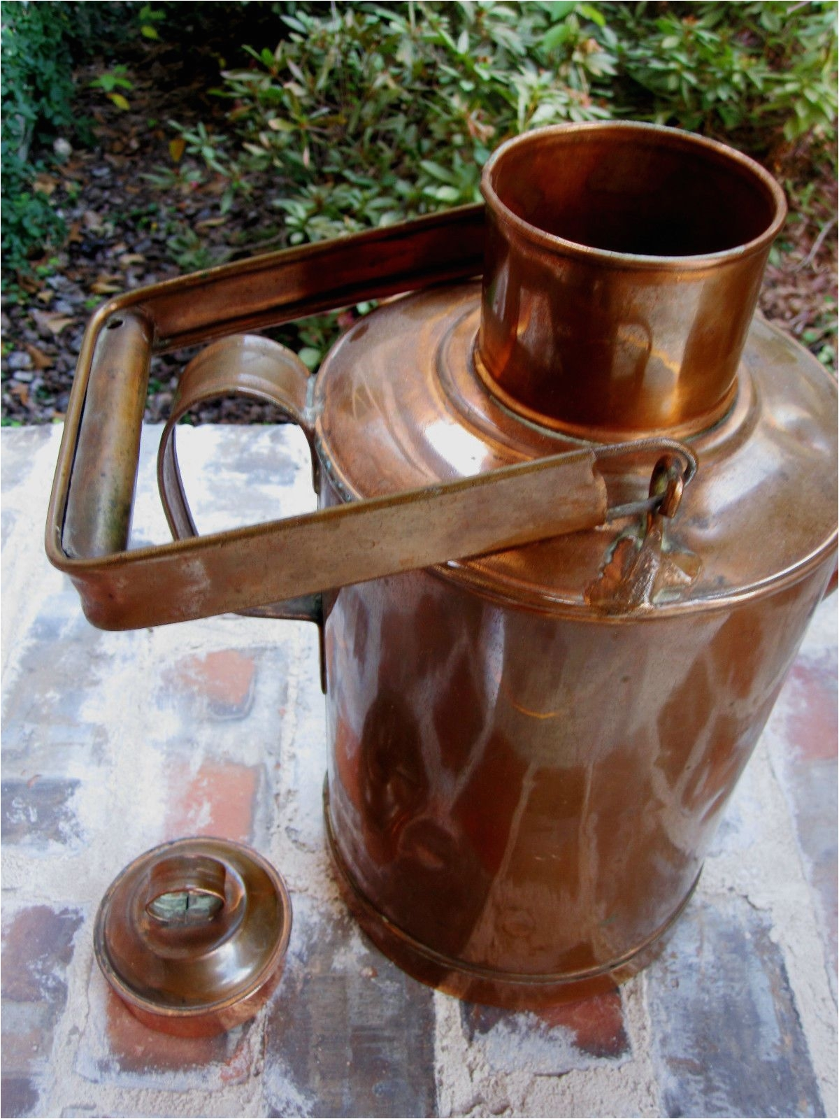 Decorative Copper Pots Antique Unique English Tall Copper Watering Can Jug Kettle Pitcher