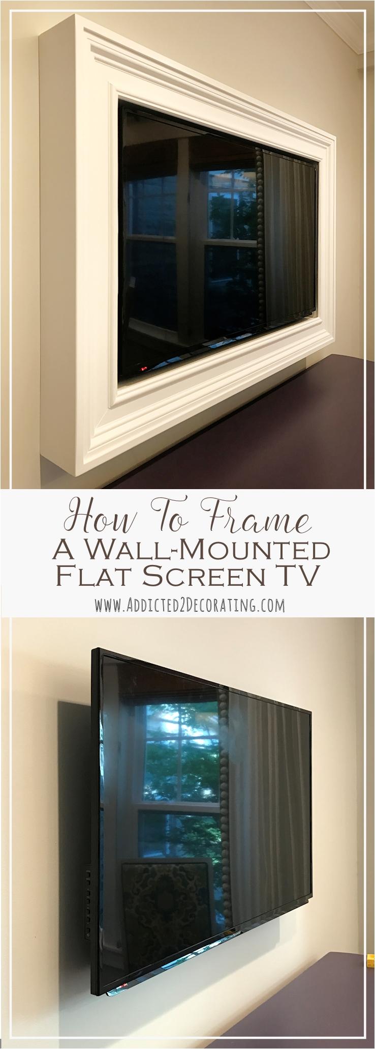 Decorative Cord Covers Flat Screen Tv Custom Diy Frame for Wall ...
