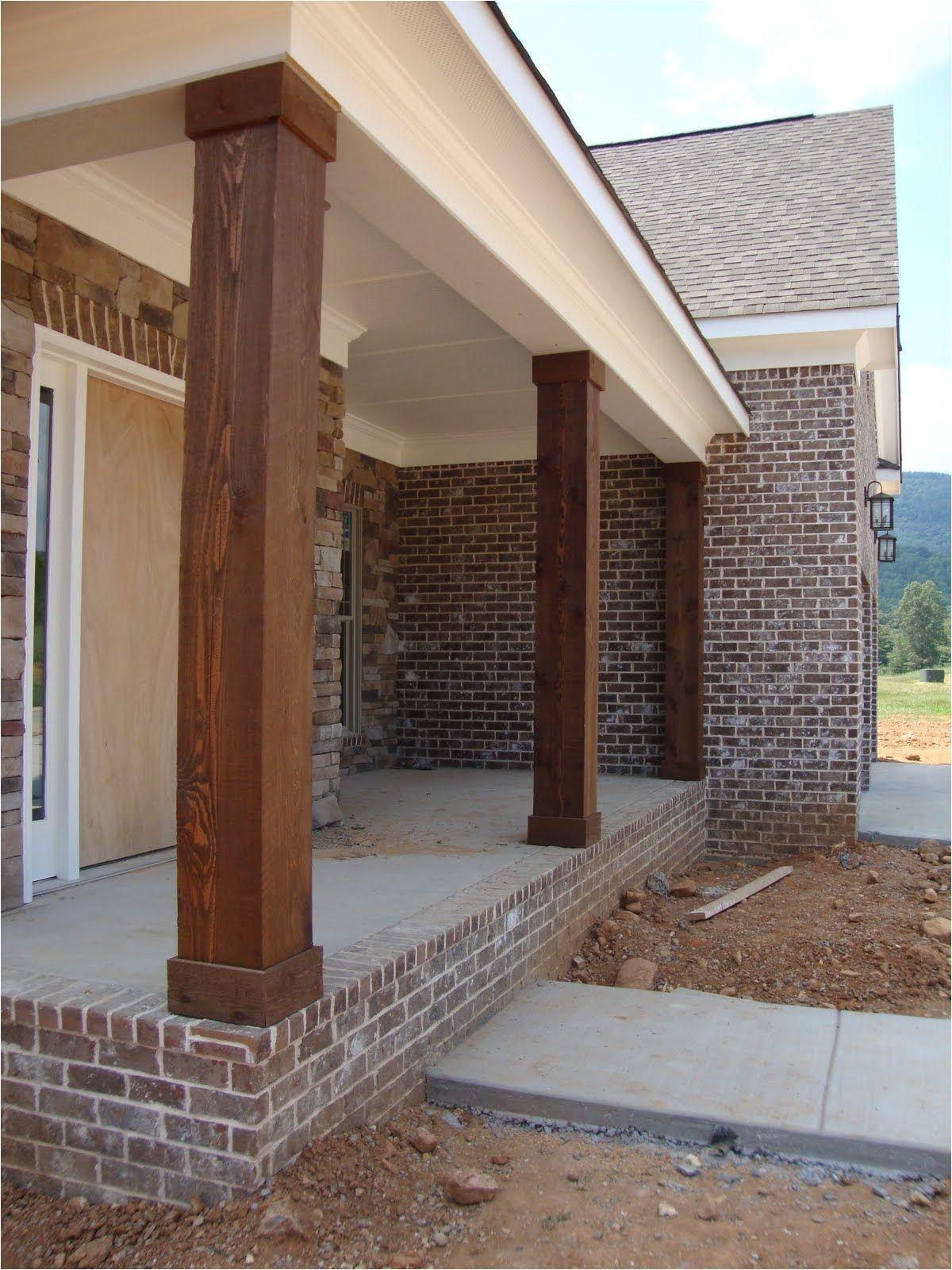 cedar columns will only cost around 150 to make 3 to update my 1970 s porch