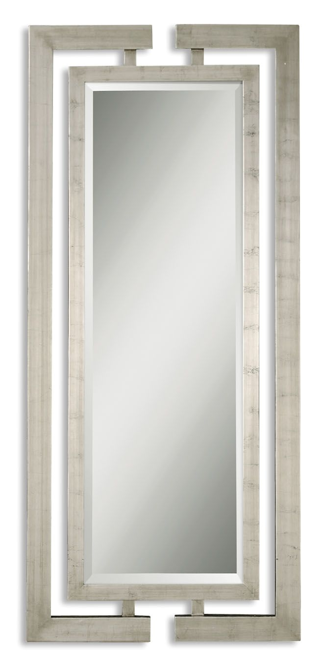uttermost 14097 b jamal silver mirror contemporary wall mirrors lighting front w x h