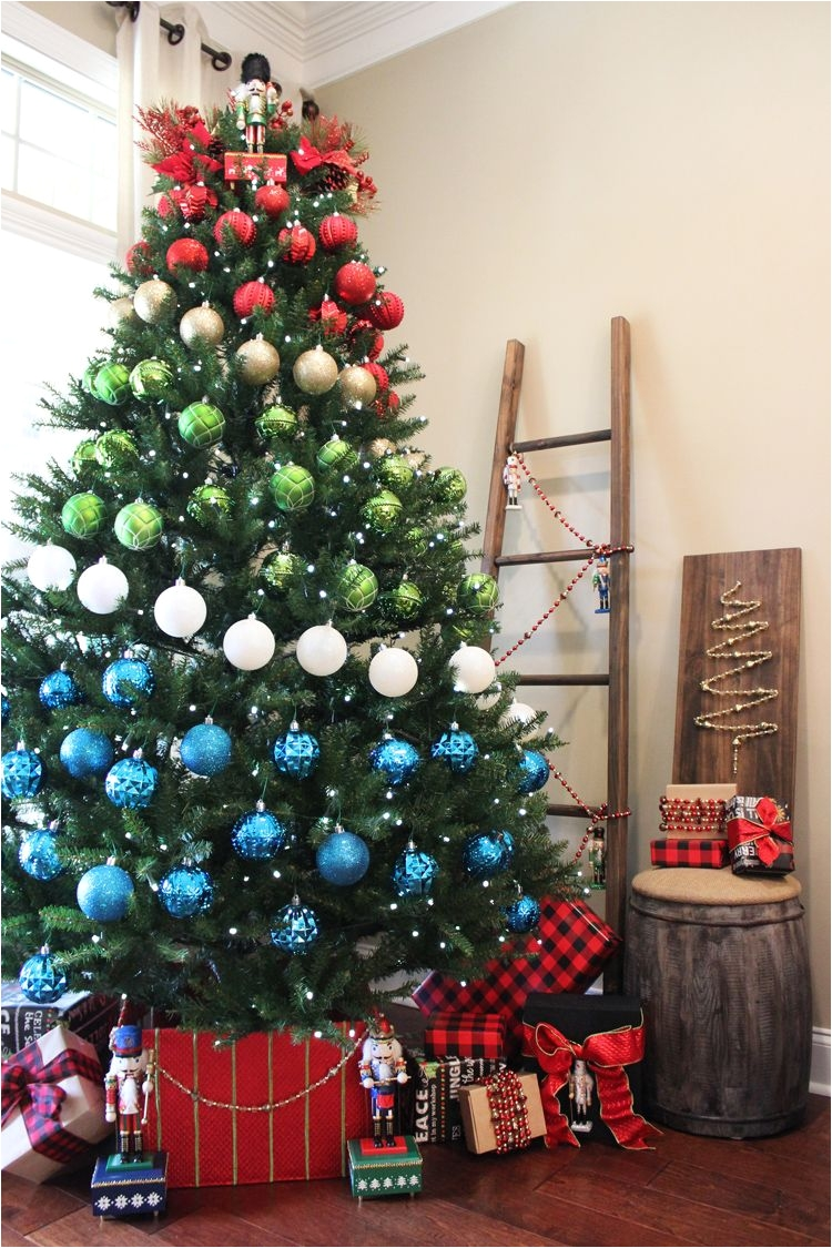 Decorative Pine Trees A Colorblock Nutcracker Christmas Decor ...