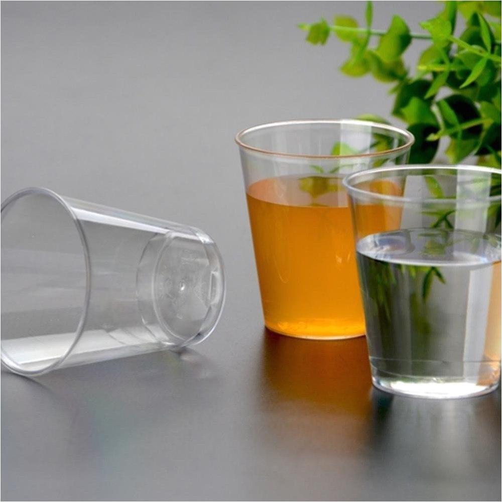 Decorative Plastic Shot Glasses 20pcs 30ml Eco Friendly Clear Plastic Shot Cup Disposable Shooter
