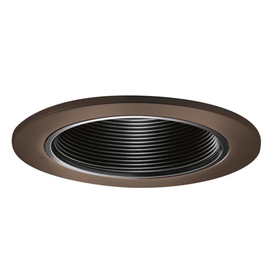 halo tuscan bronze baffle recessed light trim fits housing diameter 4 in