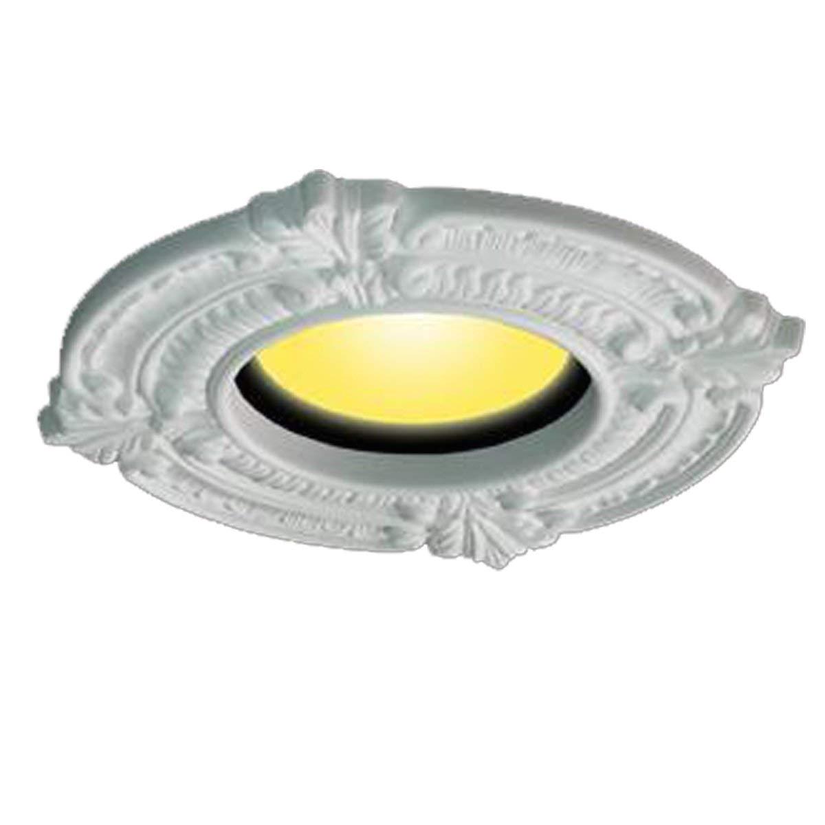 white ceiling medallion urethane recessed trim rosette 6 id x 10 od renovator s supply recessed light fixture trims amazon com