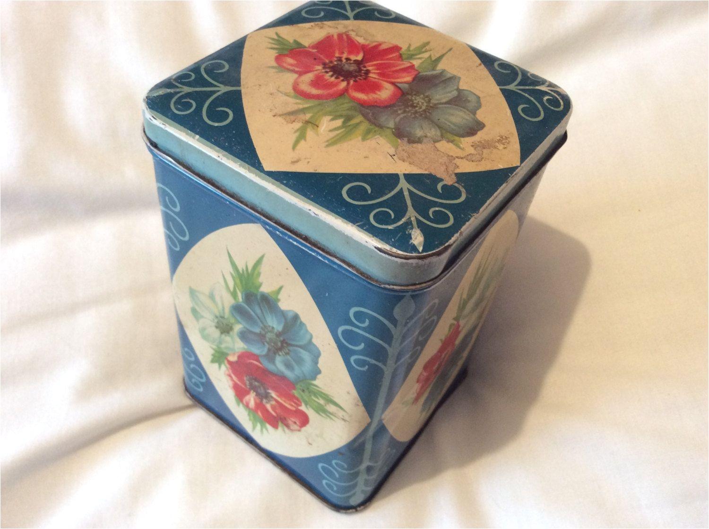 vintage co op tea tin british 1950s by ukvintagedeco on etsy