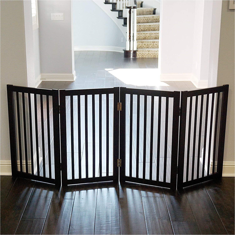 Decorative Wood Baby Gates Amazon Com Welland Wood Freestanding Pet