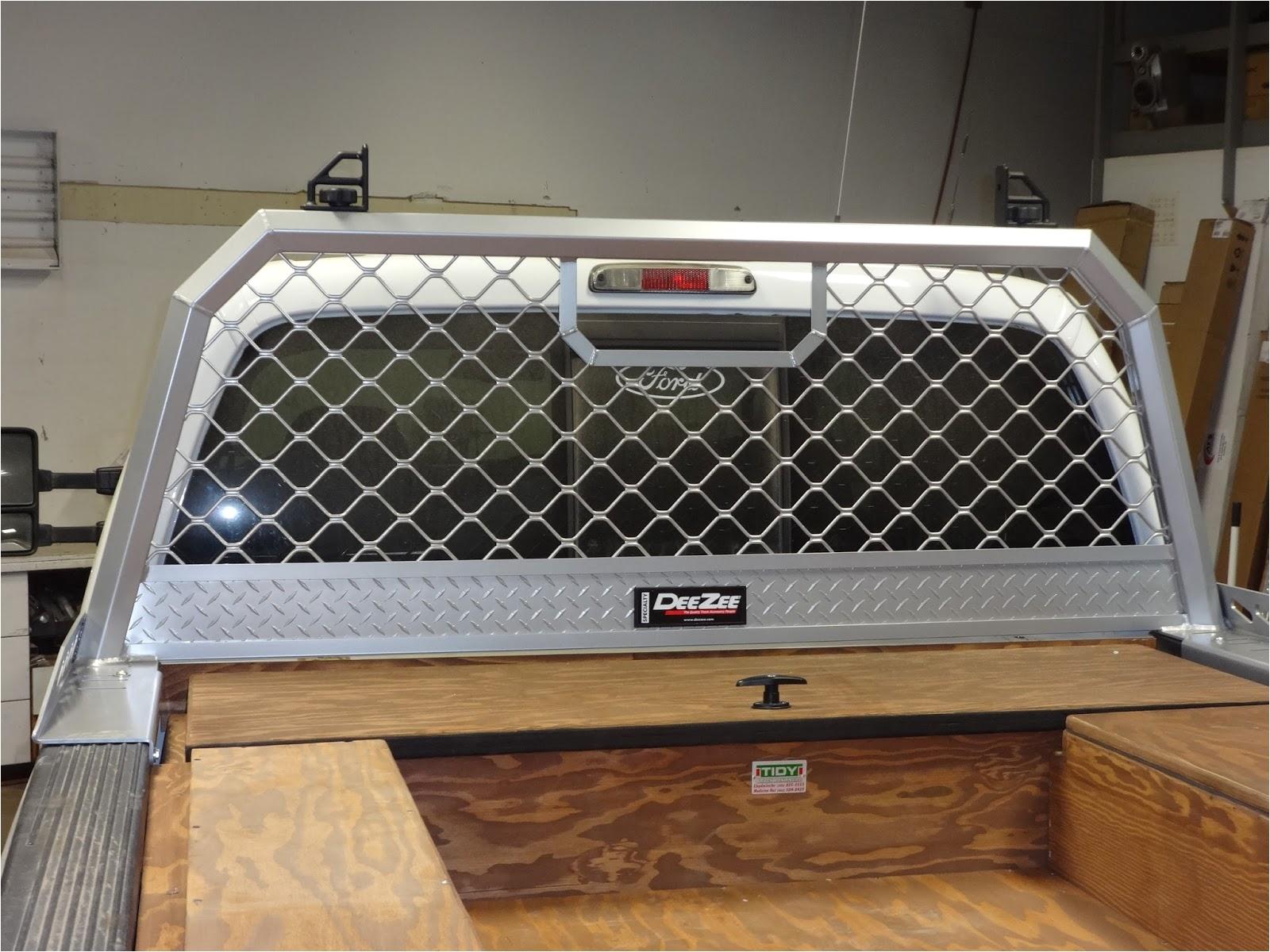 dee zee aluminum mesh cab rack