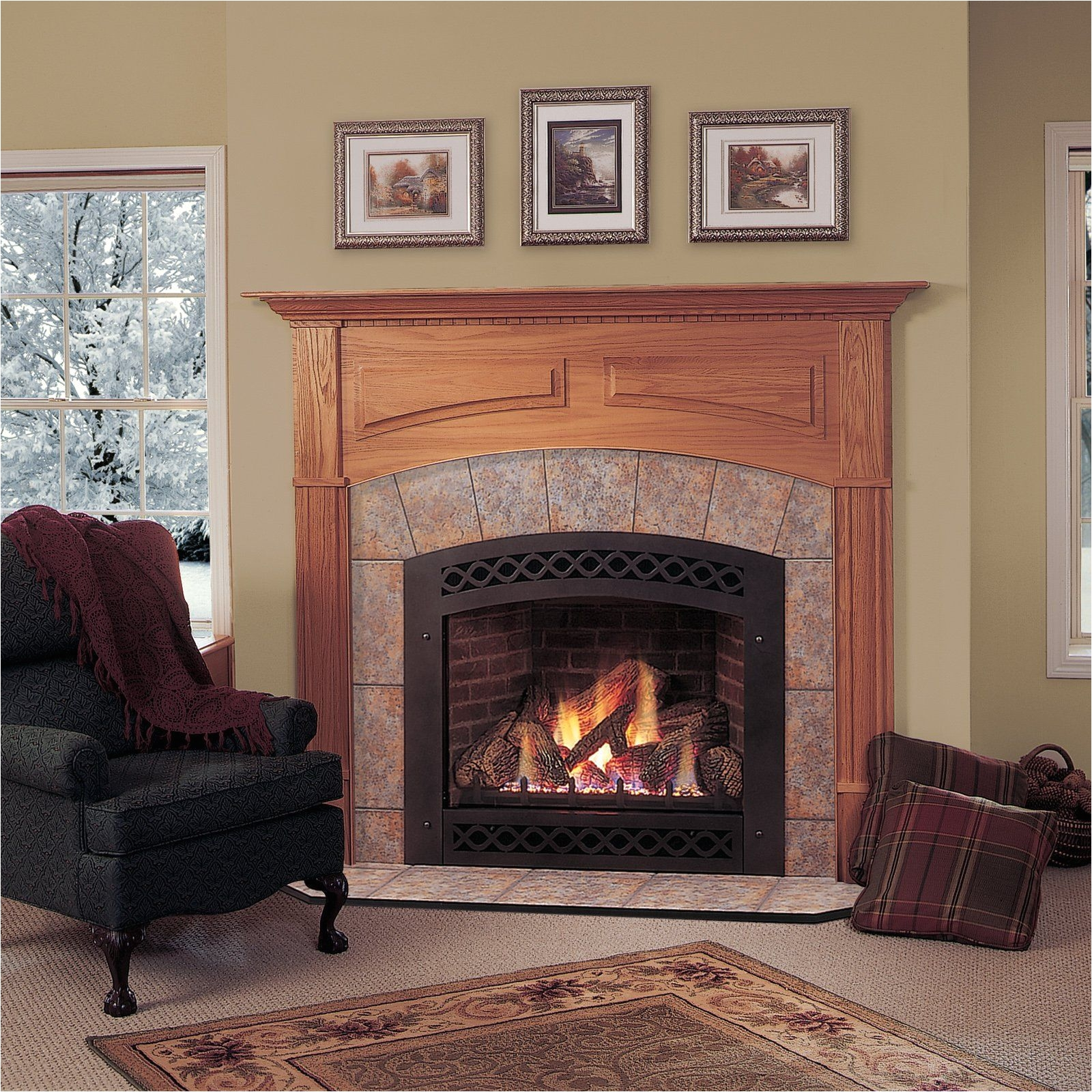 majestic lexington direct vent gas fireplace from hayneedle com