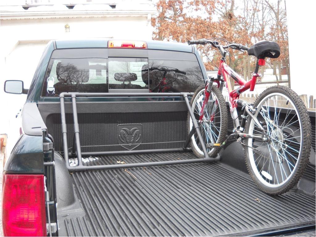 Diy Bike Rack for Pickup Truck Bed Pvc Truck Bed Bike Rack Pinterest Truck Bed Bike Rack and Truck Bed