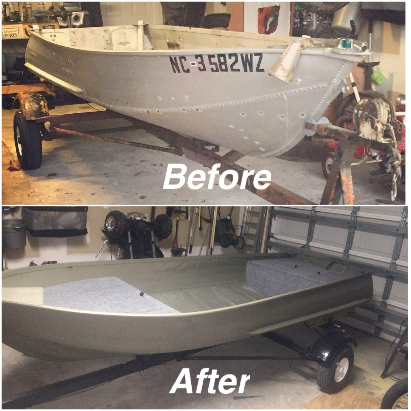matt s jon boat revamped turned out pretty damn good