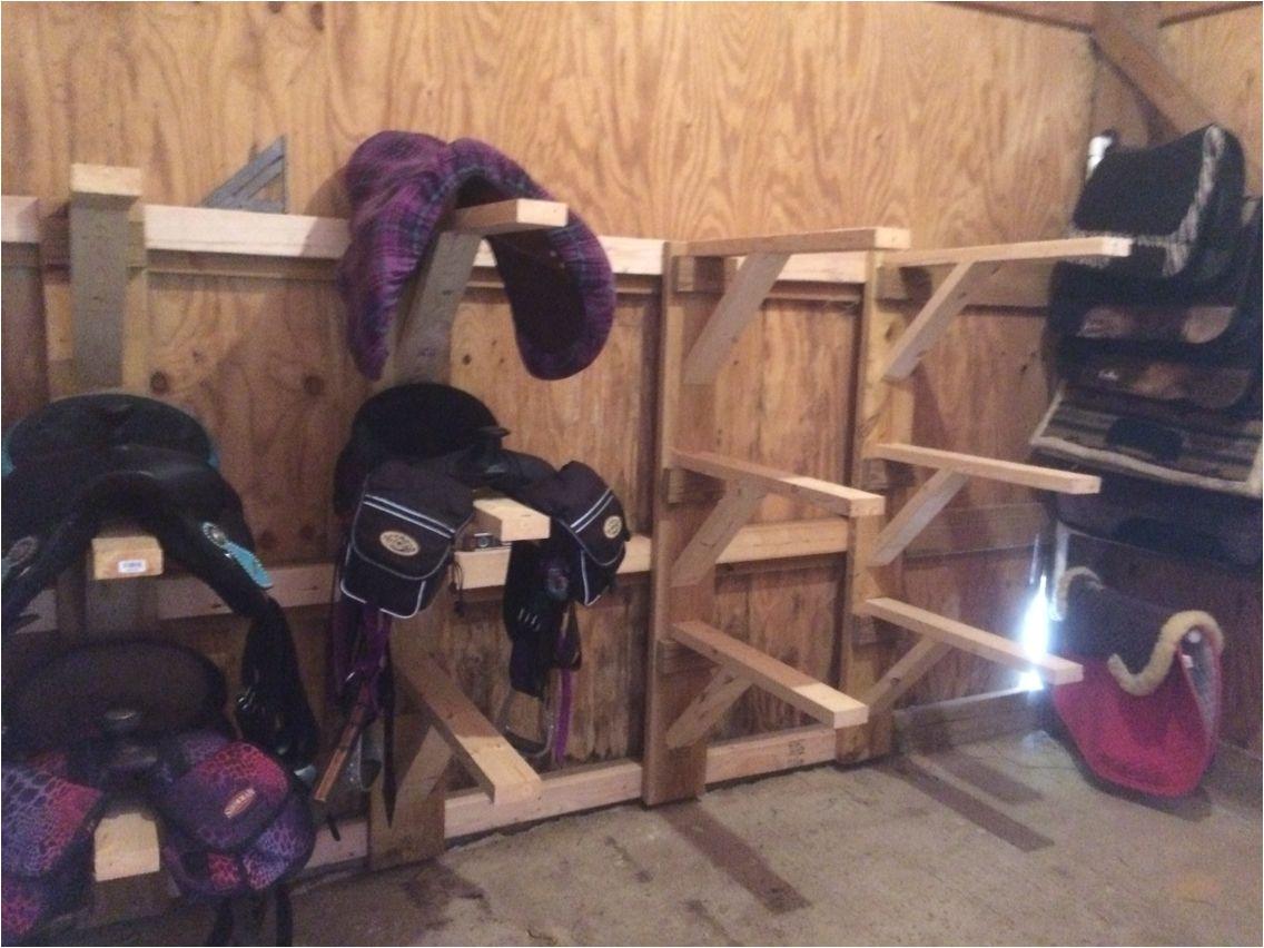 diy saddle rack for western and english saddles tack room saddle rack