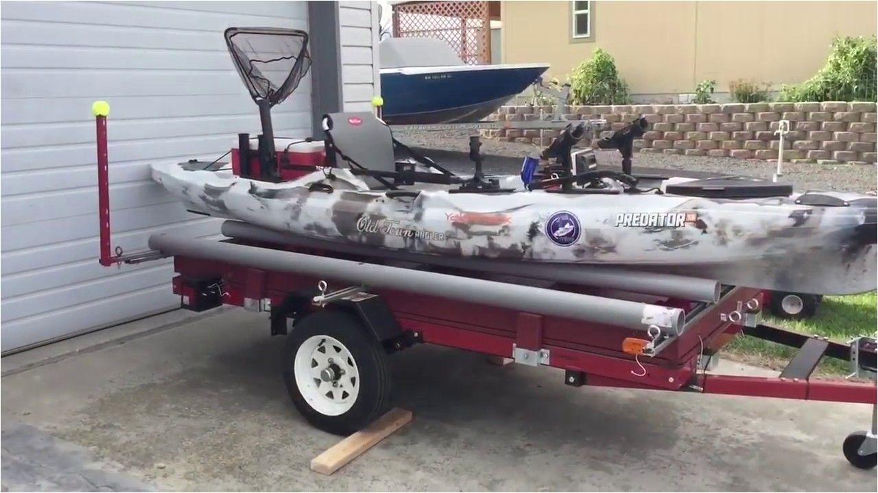 versatile harbor freight double kayak trailer diy build youtube kayaktrailerharborfreight