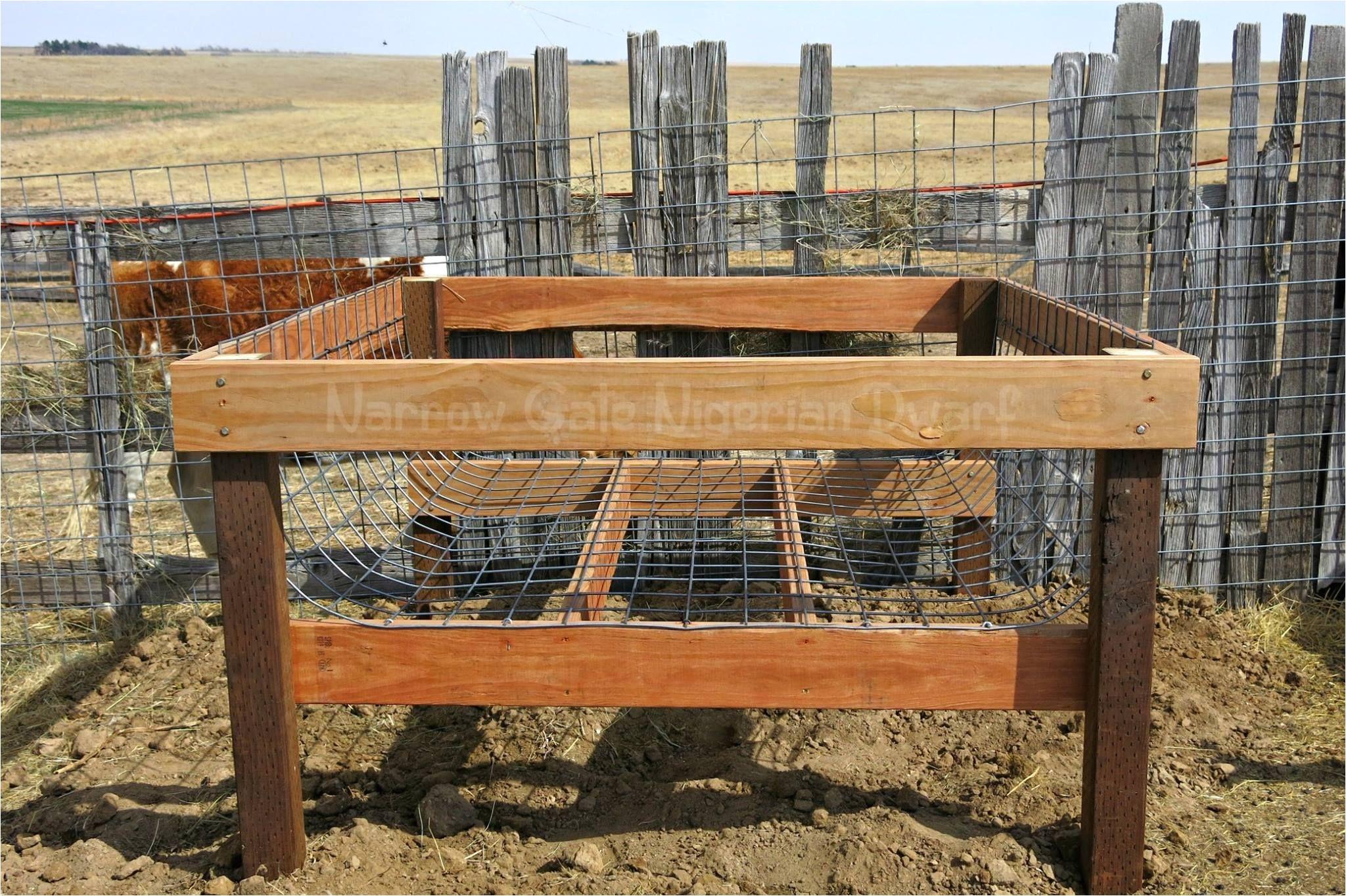 building a cradle round bale hay feeder