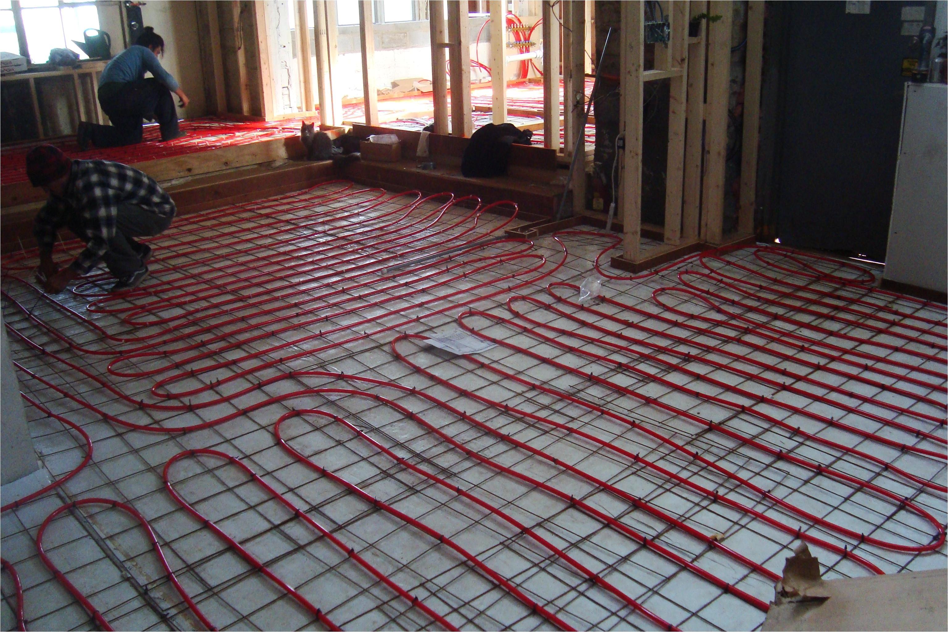 Diy Heated Floor Mat Electric Radiant Floor Heating the Basics