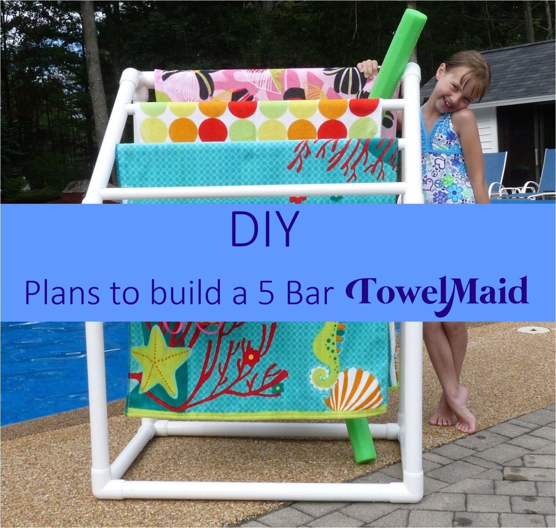 diy plans to build 5 bar towel rack