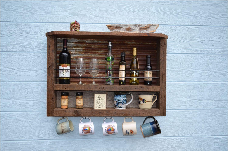 barn wood spice and olive oil rack by barrelsandbarnwood on etsy https
