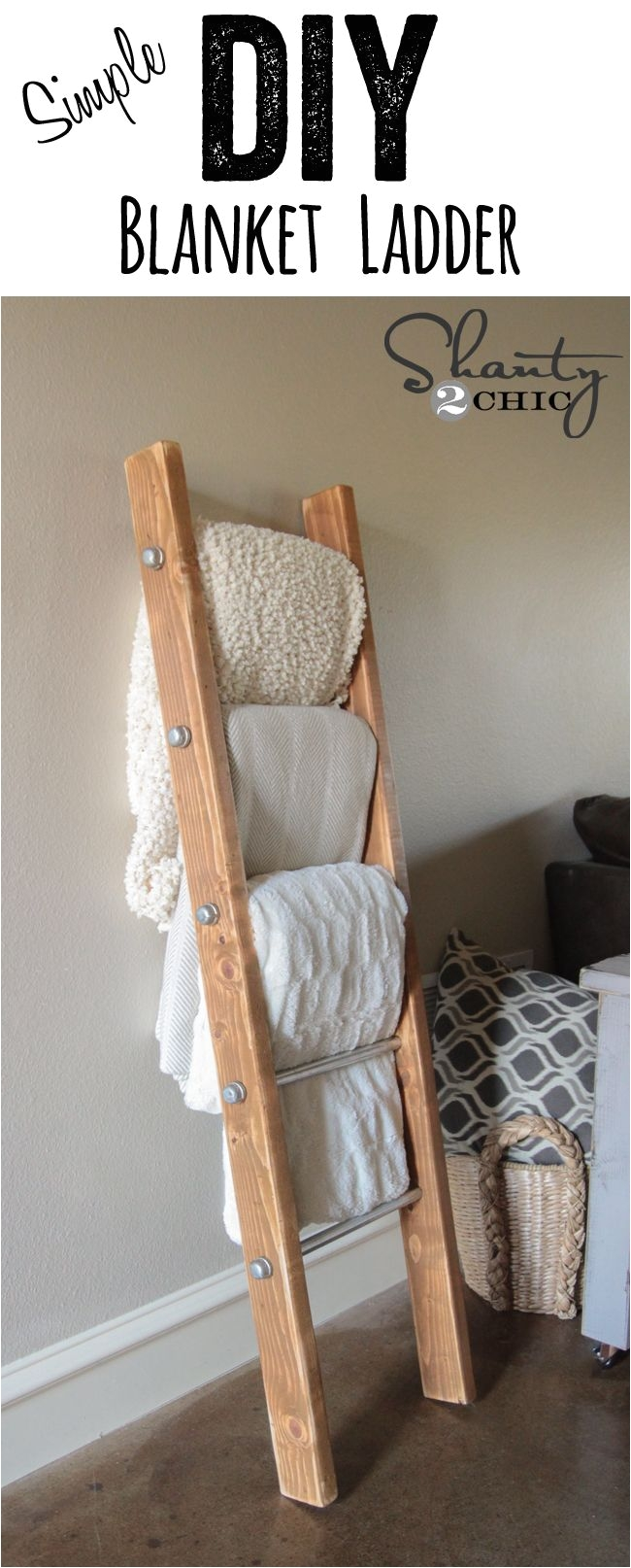Diy Wooden Blanket Rack Diy Wood and Metal Pipe Blanket Ladder Pinterest Blanket Ladder