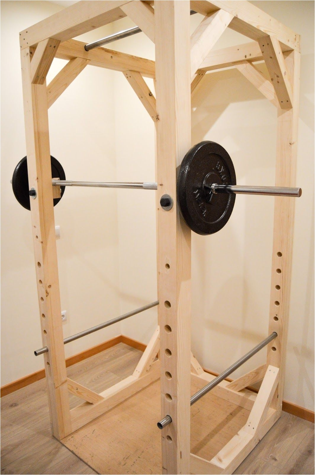 Diy Wooden Squat Rack Plans Homemade Diy Power Rack Iron Add