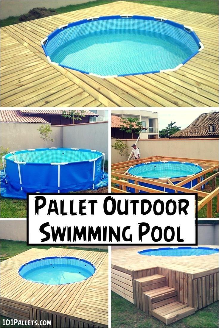 diy pallet outdoor swimming pool