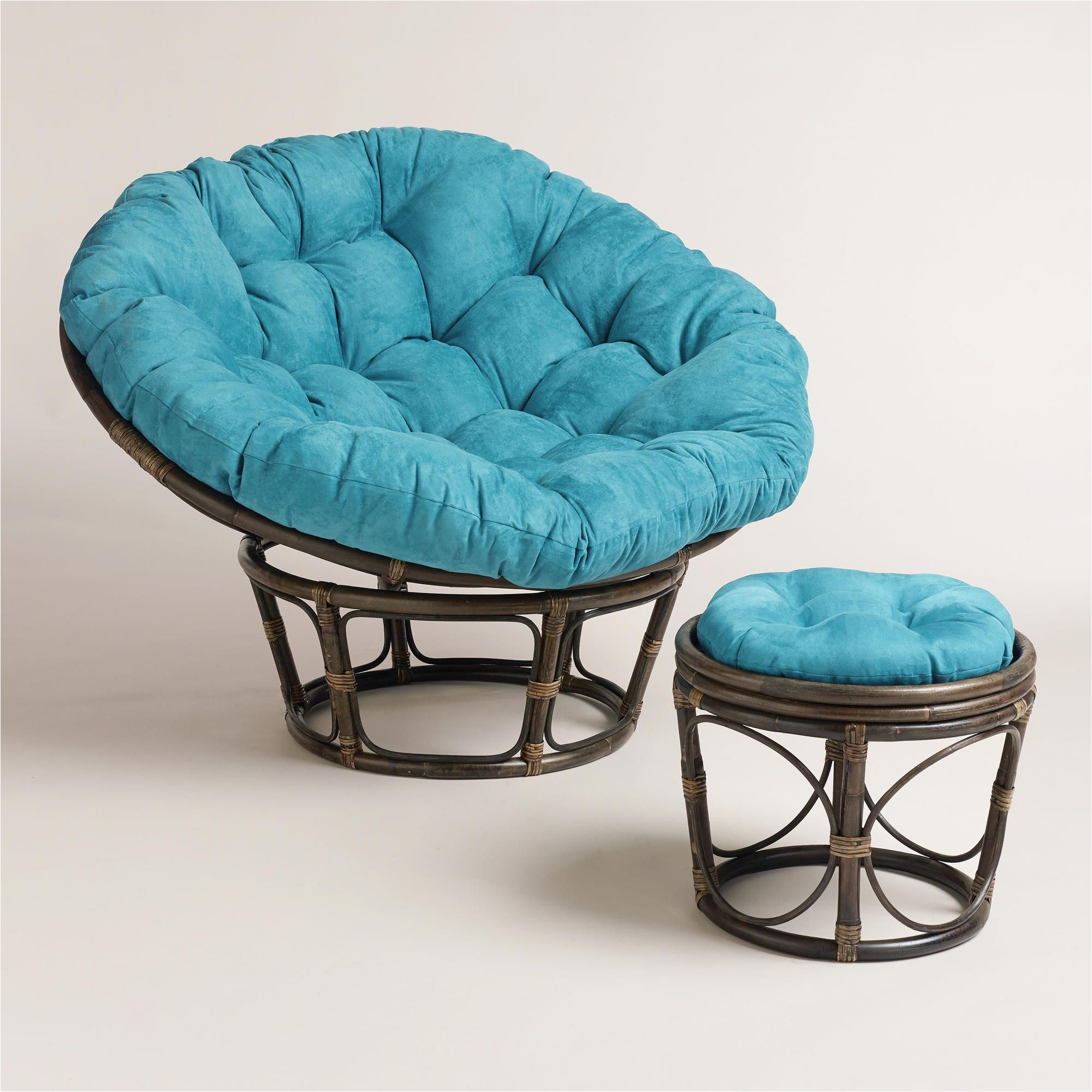 Double Papasan Chair World Market Porcelain Micro Suede Papasan Chair Cushion Papasan Chair