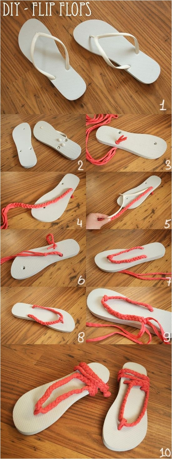 add style to those 3 flip flops from old navy or five below plus the diy ideascraft ideaseasy