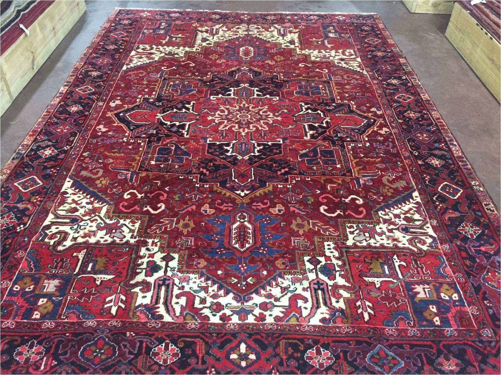 sale great hand knotted persian tabriz heriz rug geometric carpet 9x12 8 7 x12 5 ebay