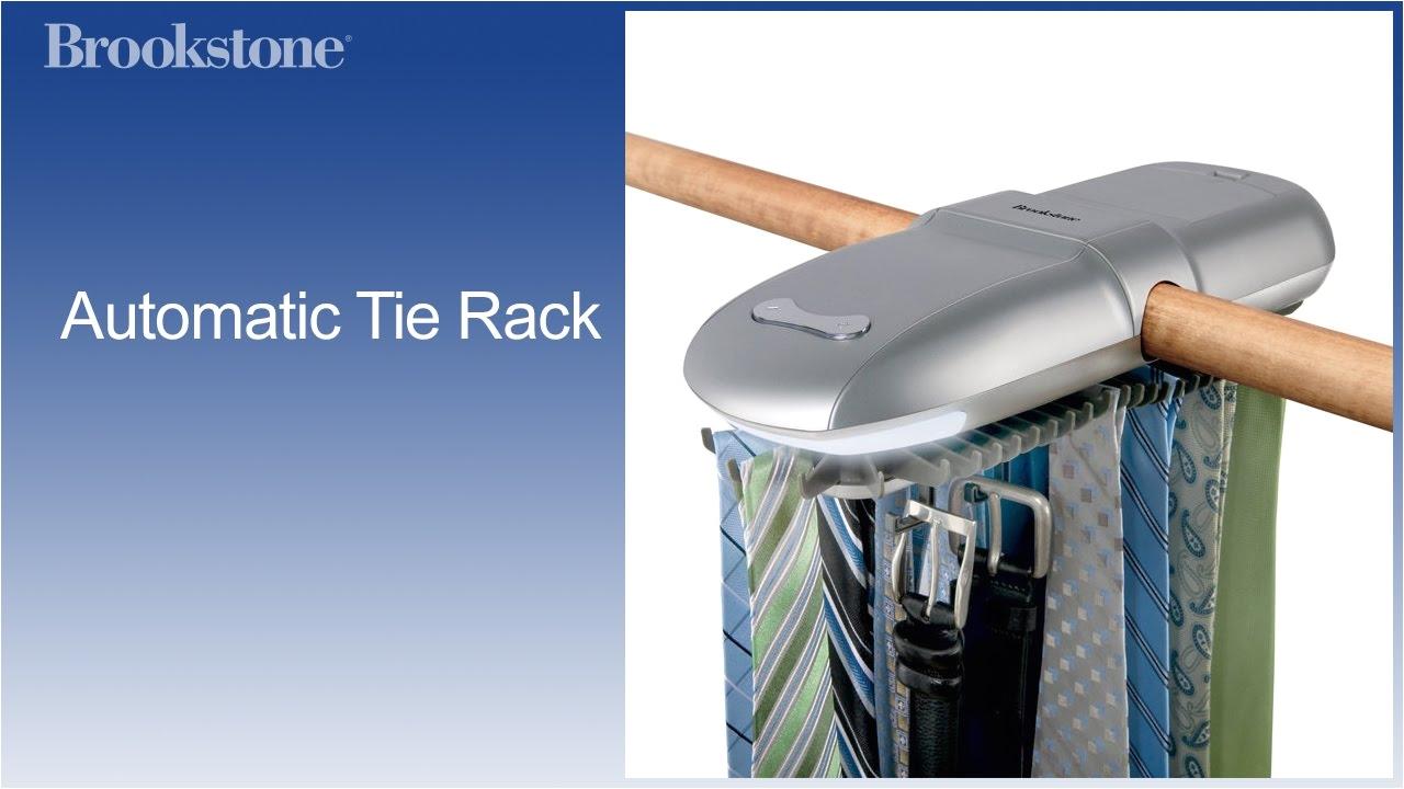 Electric Tie Rack Brookstone Automatic Tie Rack Youtube