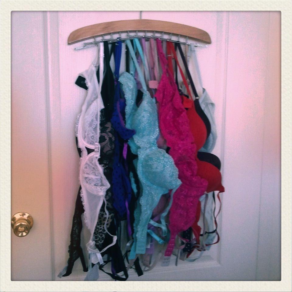 tie rack for bra storage so brilliant
