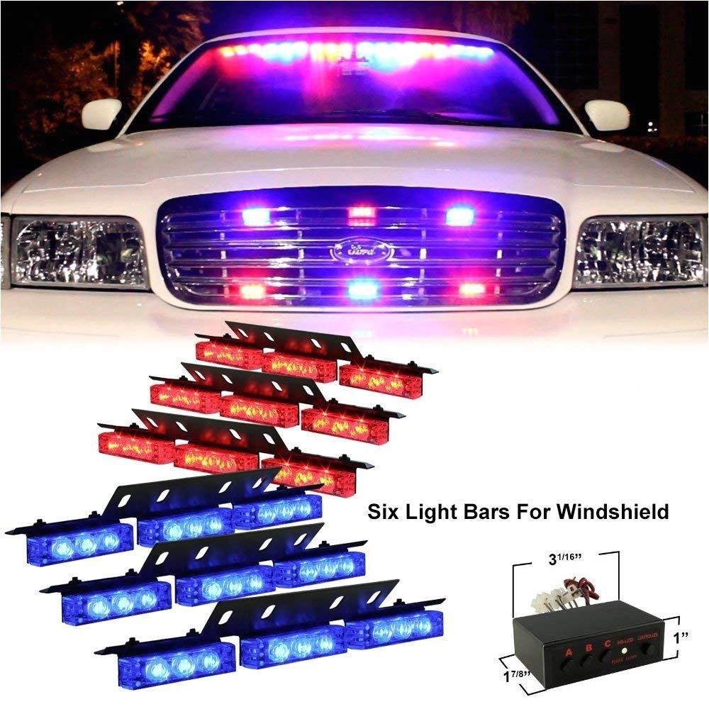 Emergency Vehicle Interior Light Bars Amazon Com Diyah 54 Led High Intensity Led Light Bar Law