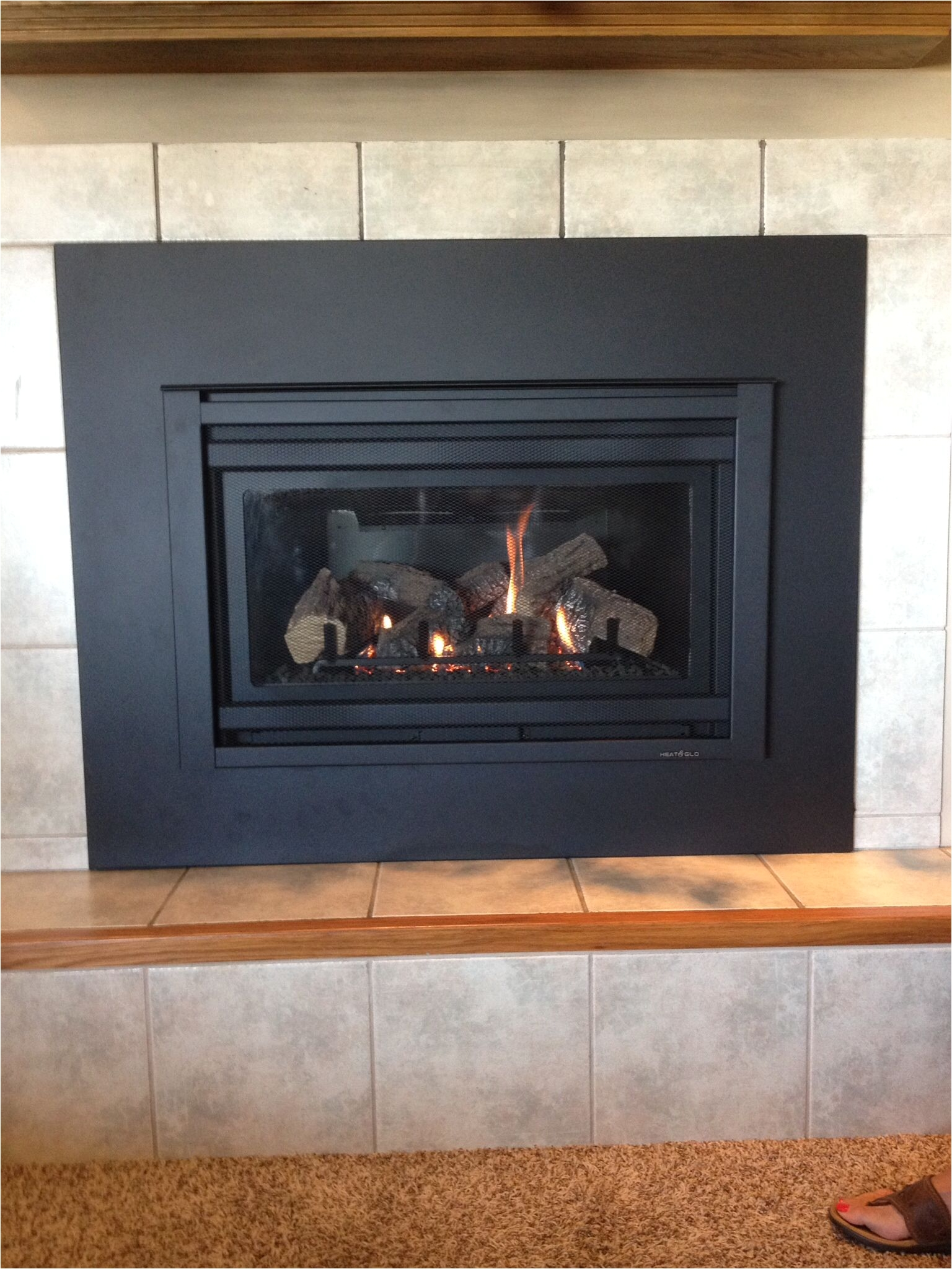 heat n glo supreme i 30 gas insert with custom surround panel