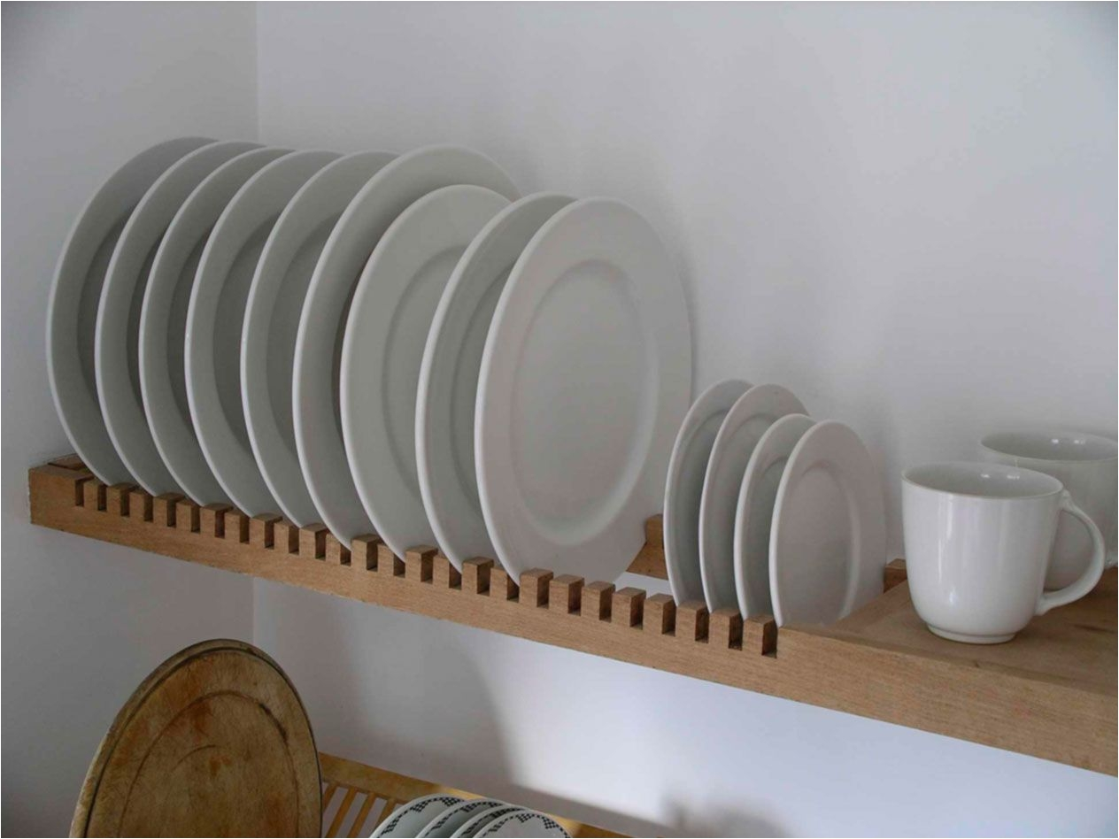 wall mounted kitchen plate drying rack