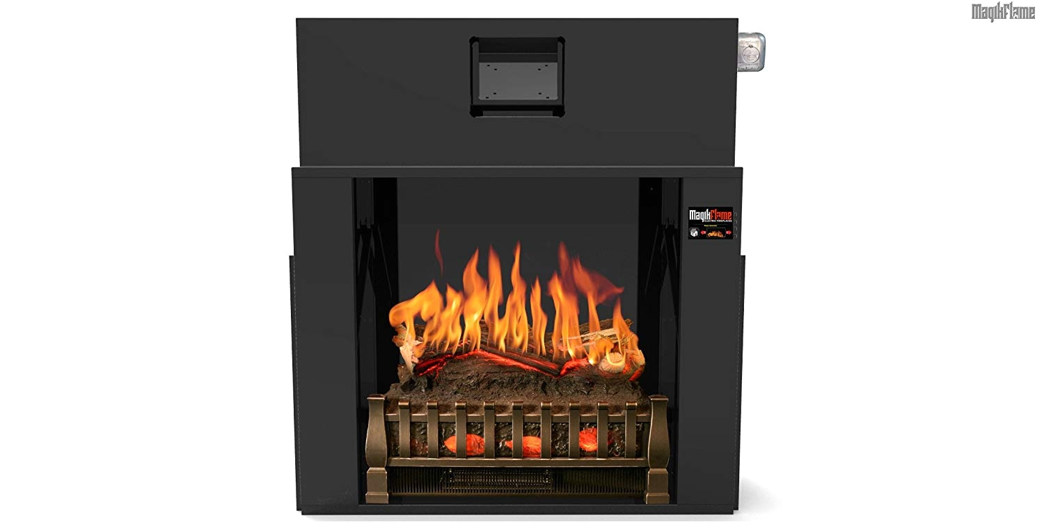 amazon com most realistic electric fireplace insert on amazon 21 flames sampled from real fires w sound 3d holographic flames for lifelike appearance