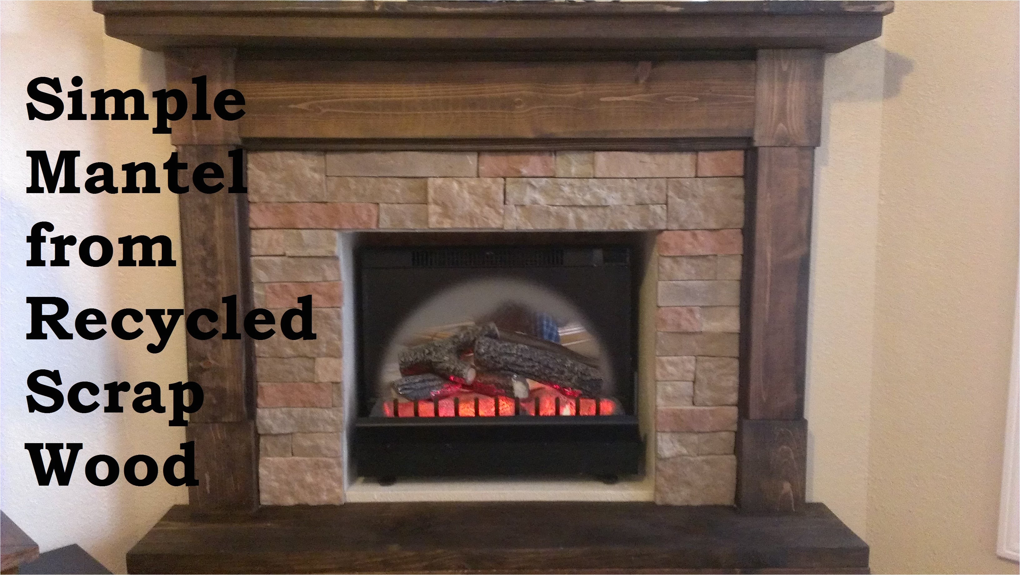 building a fireplace mantel from scrap wood