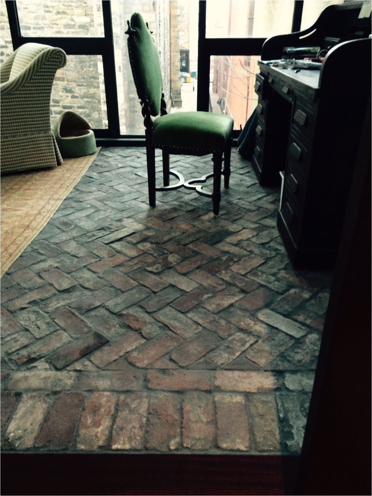 Faux Brick Tile Flooring Reclaimed Thin Brick Veneer Brick Floor