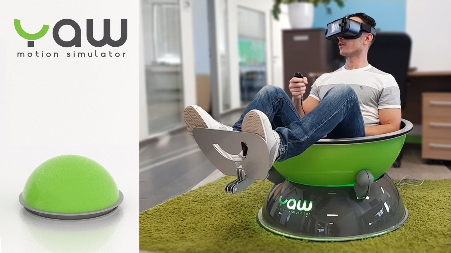 Fidget Chair Kickstarter Yaw Vr Compact Portable Motion Simulator by Industrial Cybernetics