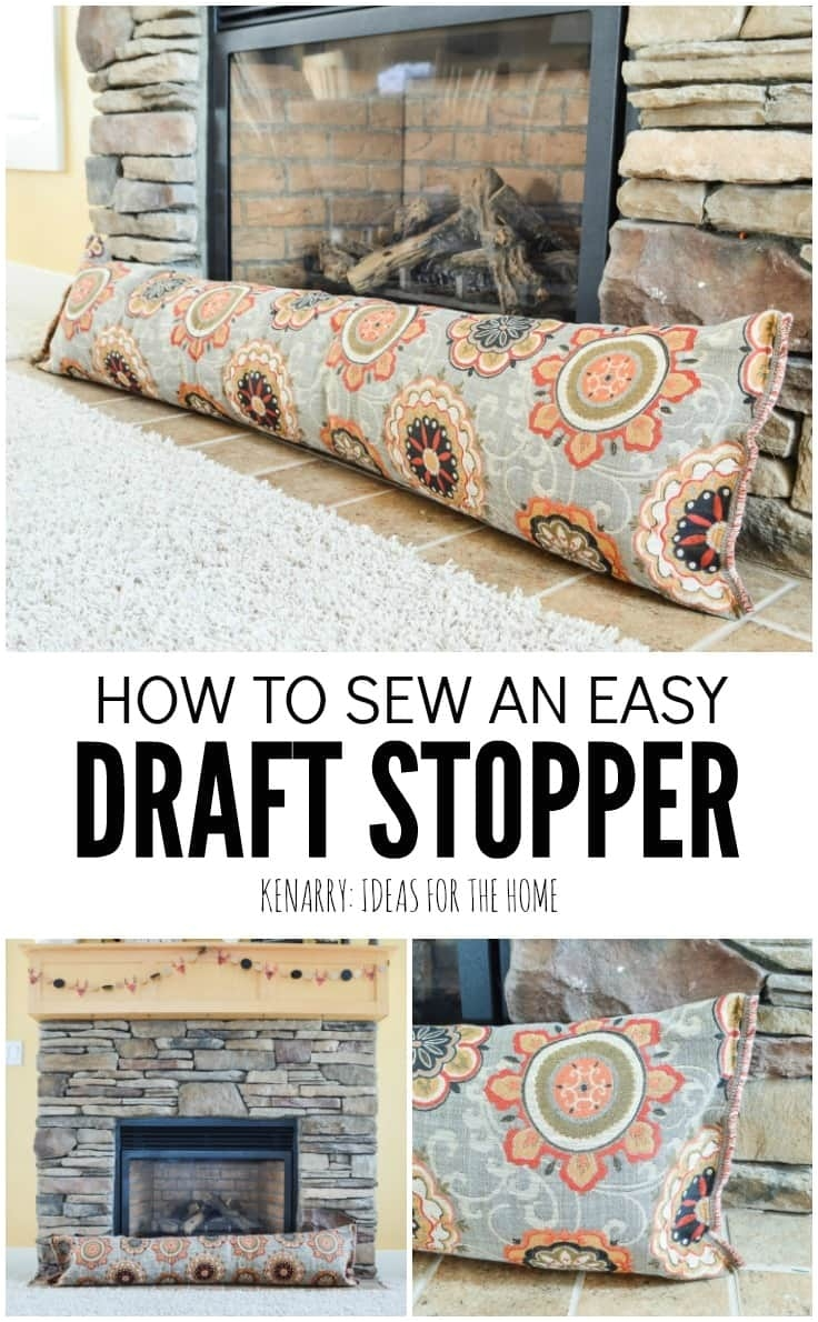 this easy sewing tutorial will teach you how to make a fireplace draft stopper this