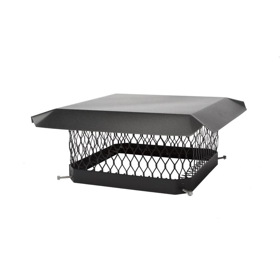 shelter 13 in w x 13 in l black galvanized steel square chimney cap