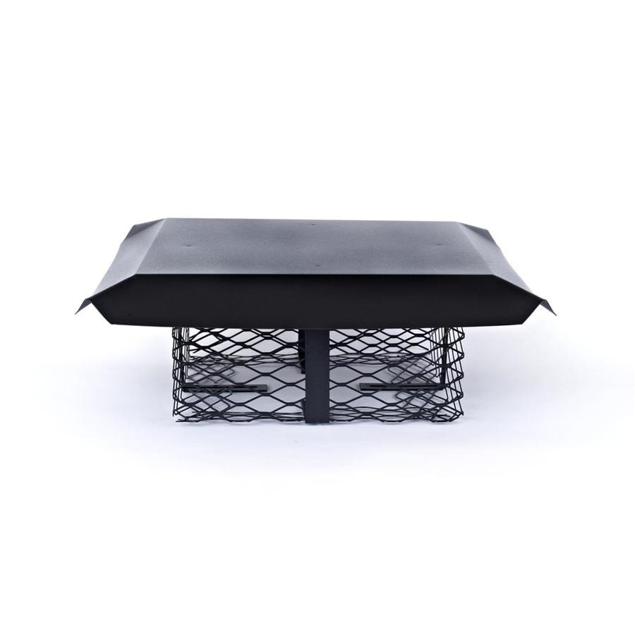 shelter 13 in w x 18 in l black galvanized steel rectangular chimney cap