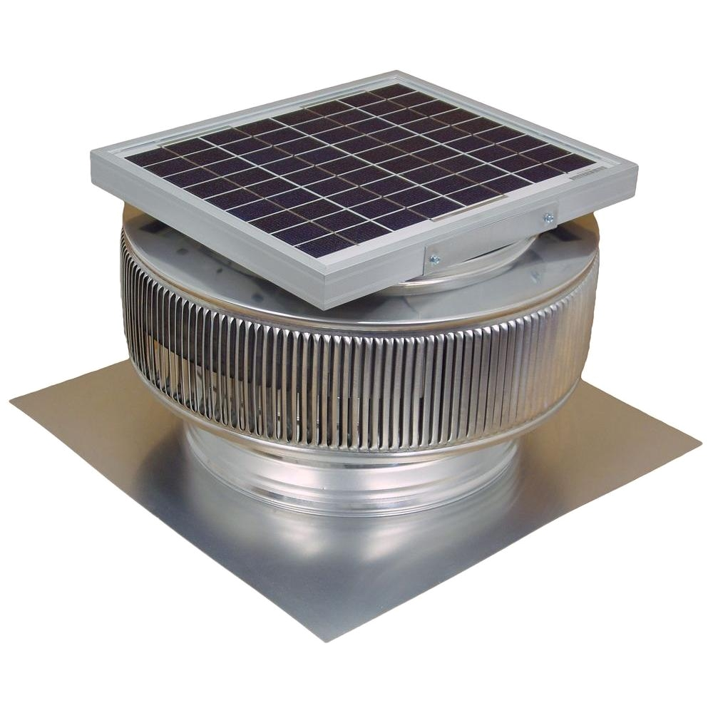 active ventilation 740 cfm mill finish 10 watt solar powered 12 in dia roof